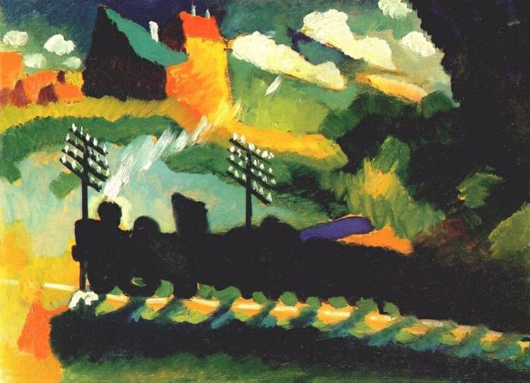 Murnau, train & castle | Wassily Kandinsky