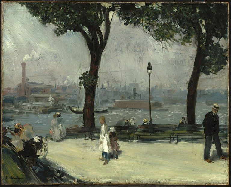 """""""East River Park"""" by William Glackens 
