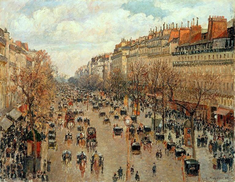 """Boulevard Montmartre"" by Camille Pissarro | ©Public Domain/WikiCommons"