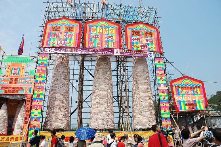 Bun Festival Towers   © Ethan Chan H C/Flickr