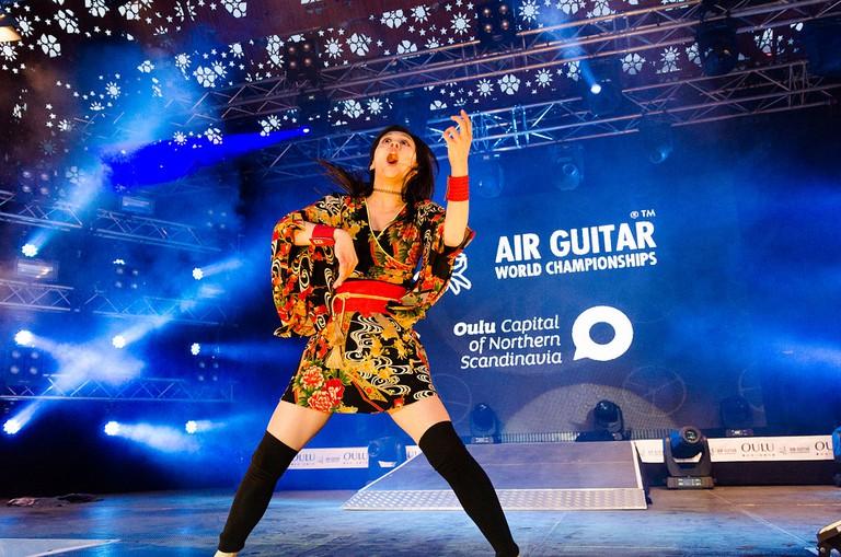 Air Guitar World Champion 2014   ©Aleksi Ollila/WikiCommons