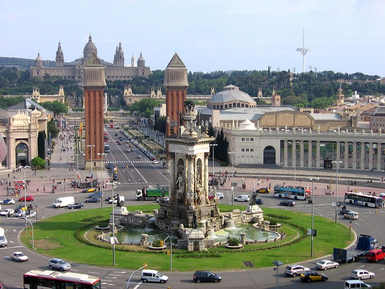 Plaça d'Espanya and the National Palace | © Canaan / WikiCommons