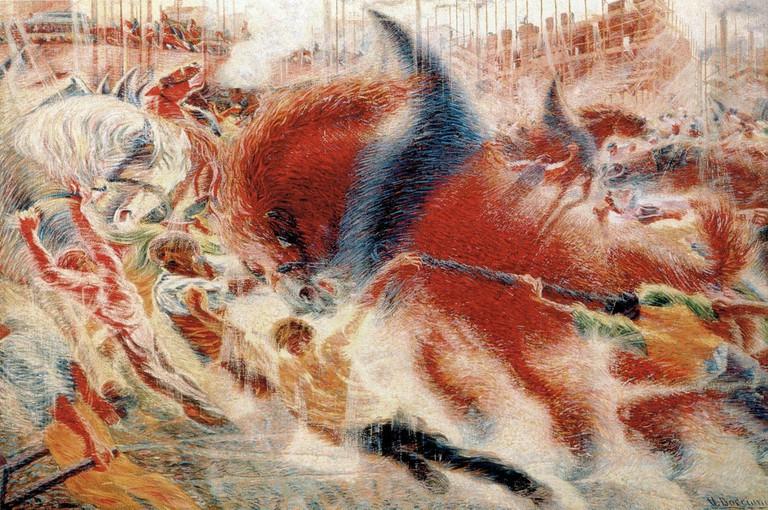 """The City Rises"" by Umberto Boccioni | © Public Domain/WikiCommons"