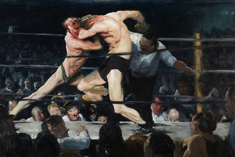 """Stag at Sharkey's"" by George Bellows 