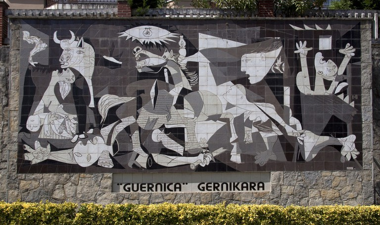The tile mural of Picasso's Guernica in present-day Guernica| ©Tony Hisgett/Flickr
