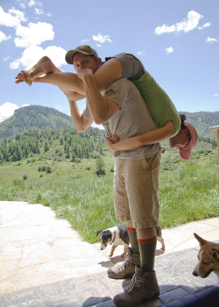Wife Carrying Practice   ©Peter Oelschlaeger/Flickr