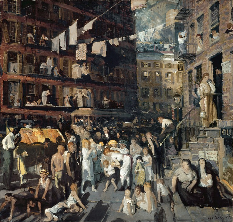 """Cliff Dwellers"" by George Bellows 