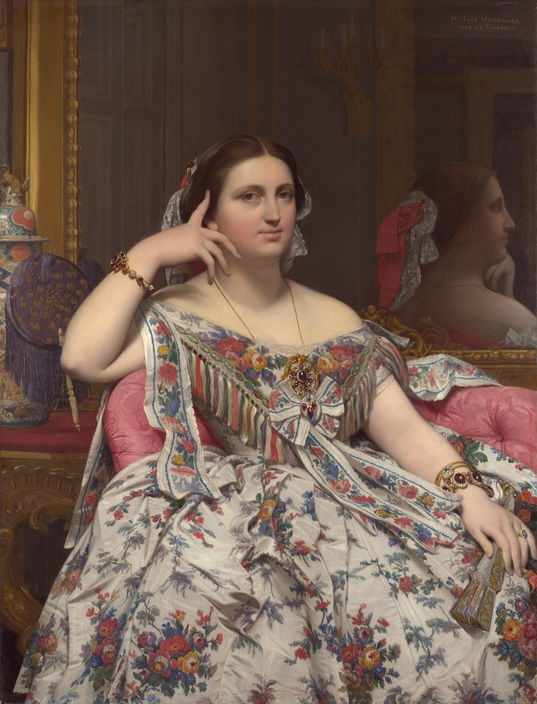 Ingres, Madame Moitessier, 1856   © National Galley/WikiCommons