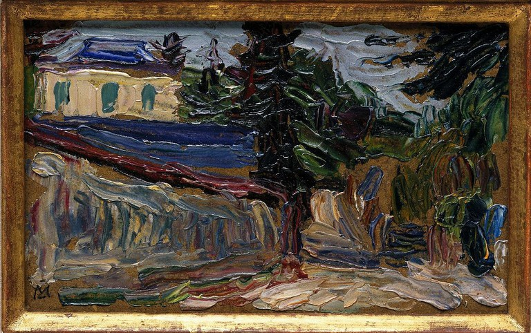 Gabriele Münter, Bei Paris II (Countryside Near Paris), 1907 | © Brooklyn Musuem/WikiCommons