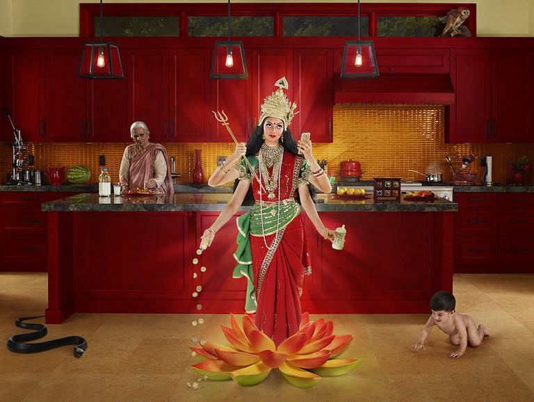 Lakshmi from Gods of Suburbia | © Dina Goldstein