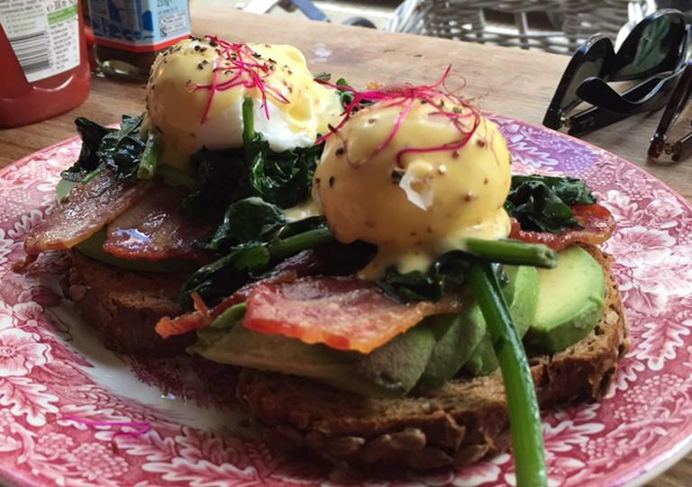 More delicious eggs at Gs   © Miranda Wade