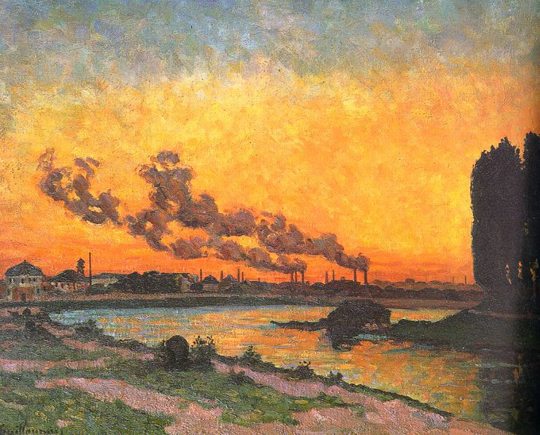 """""""Sunset at Ivry"""" by Armand Guillaumin 