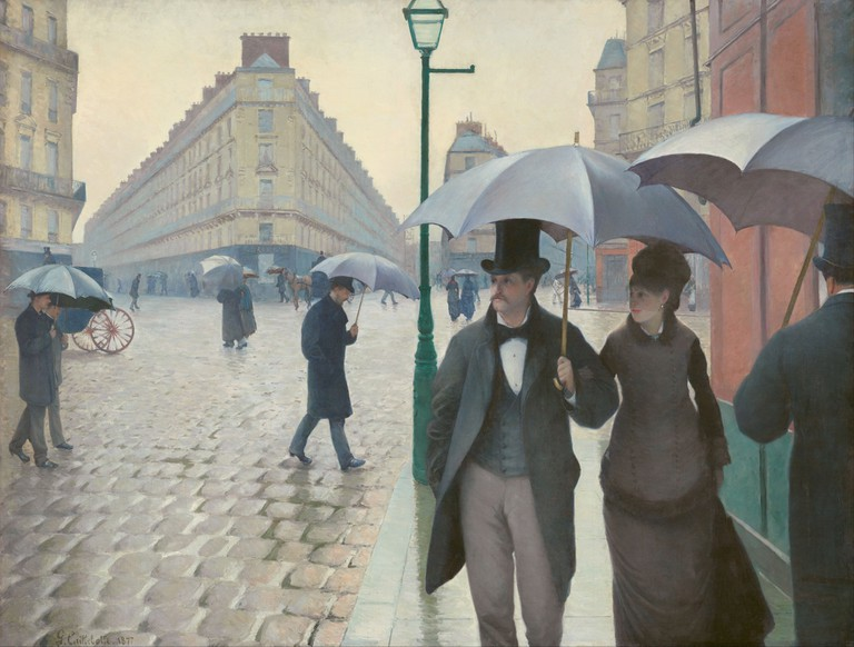 """""""Paris Street; Rainy Day"""" by Gustave Caillebotte 