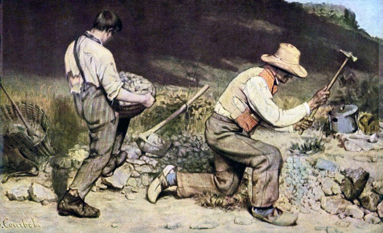"""""""Stone Breakers"""" by Gustave Courbet 