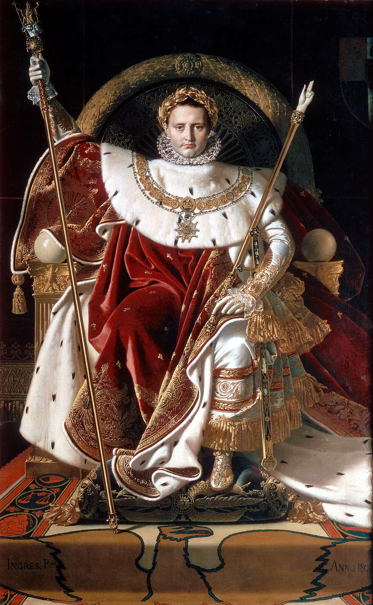 Ingres, Napoleon I on His Imperial Throne, 1806   © Musée de l'Armée/WikiCommons