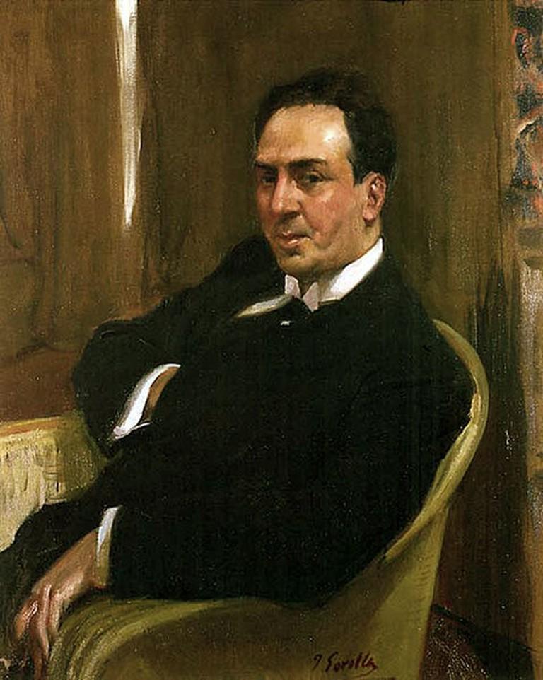 Joaquín Sorolla, Antonio Machado (diciembre de 1917). Óleo sobre lienzo. Hispanic Society of America (Nueva York) | © Joaquín Sorolla Bastida