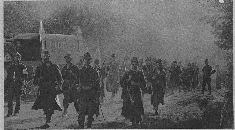 Belgian soldiers in 1914   WikiCommons
