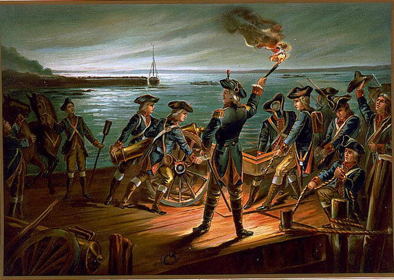 U.S. Army - Artillery Retreat from Long Island 1776   © The Werner Company, Akron, Ohio/WikiCommons