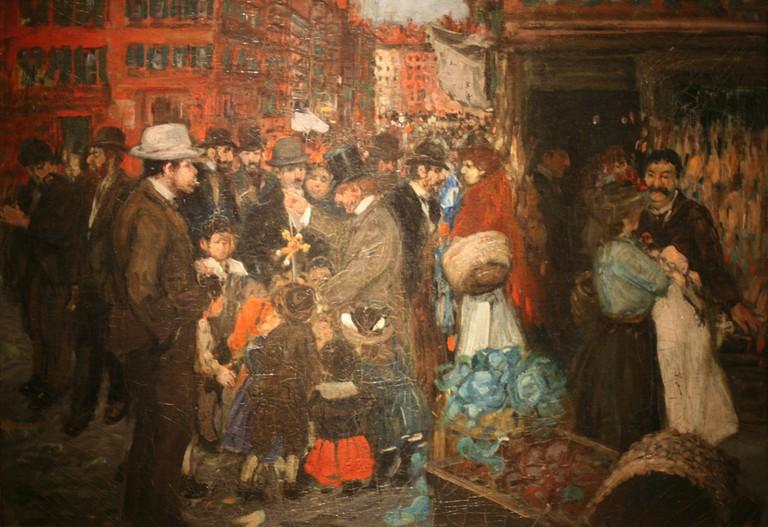 """Street Scene (Hester Street)"" by George Benjamin | © Public Domain/WikiCommons"