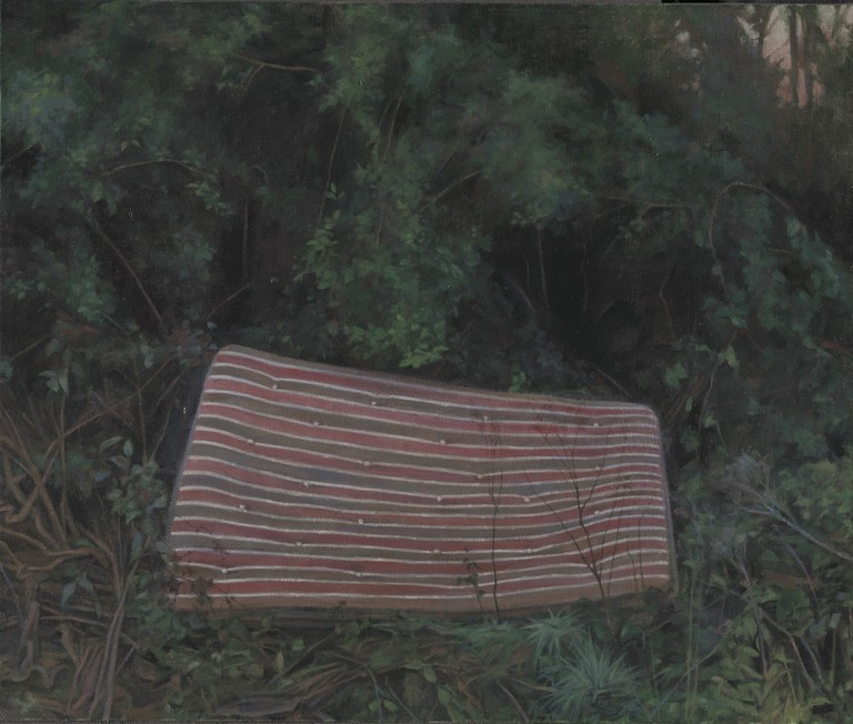 George Shaw, The School of Love, 2015-2016 (Enamel on canvas 46 x 55 cm) | Courtesy of the Artist and Wilkinson Gallery, London