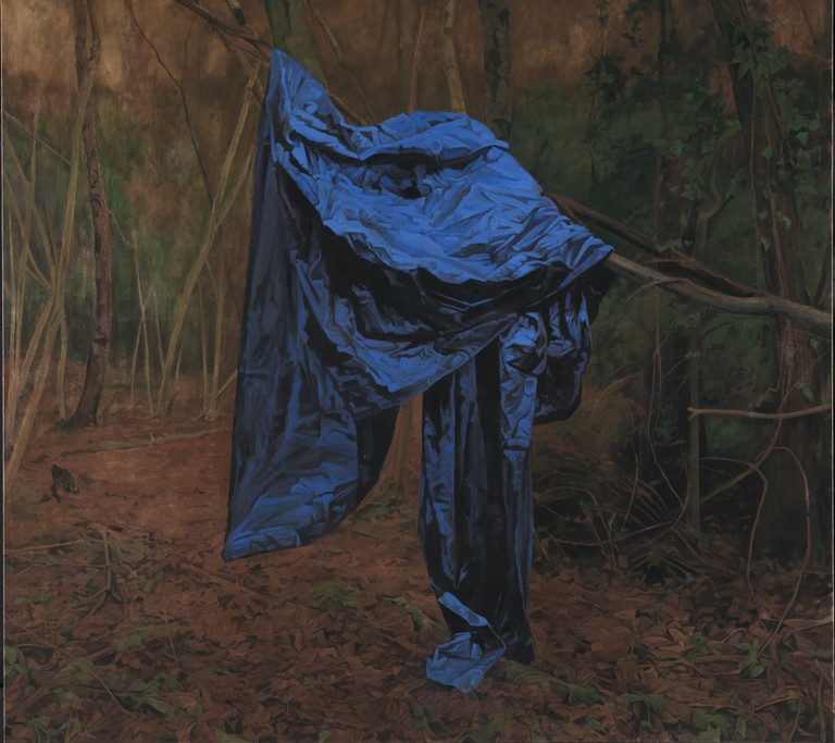 George Shaw, The Rude Screen, 2015-2016 (Enamel on canvas 178.5 x 198 cm) | Courtesy of the Artist and Wilkinson Gallery, London