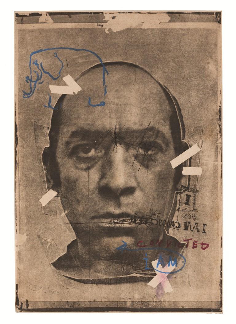 Uri Lifshitz, Sentenced, Self Portrait 1980, Courtesy of Herzliya Museum of Contemporary Art