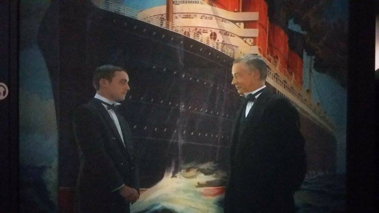Interactive Boards at Titanic Exhibition / © Victoria Brown