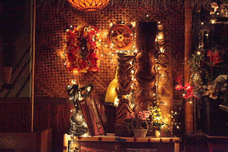 A typical tiki bar