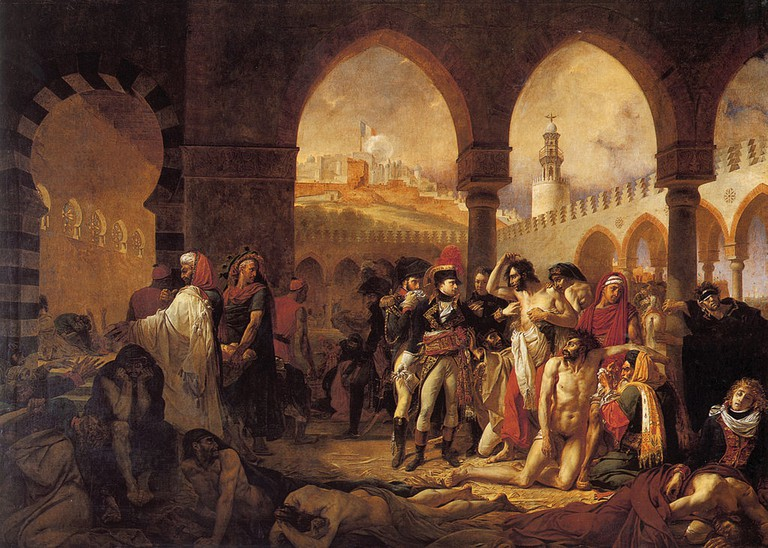 Antoine-Jean Gros, Napoleon in the Plague House at Jaffa, 1804   © Louvre Museum/WikiCommons