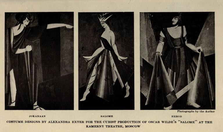 Alexandra Exter, Cubist costumes for Salome (1922) © WikiCommons