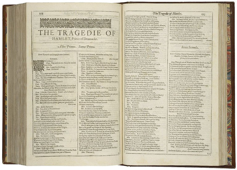 First-page-first-folio-Hamlet | © Folger Shakespeare Library Digital Image Collection/WikiCommons