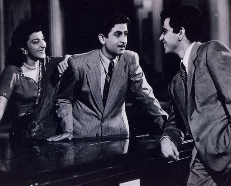 Raj Kapoor, Nargis Dutt and Dilip Kumar | © Mehboob Khan/WikiCommons