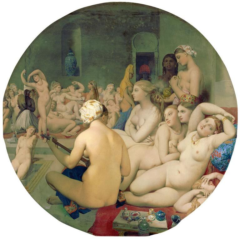 Jean-Auguste-Dominique, The Turkish Bath, 1863   © Louvre Museum/WikiCommons