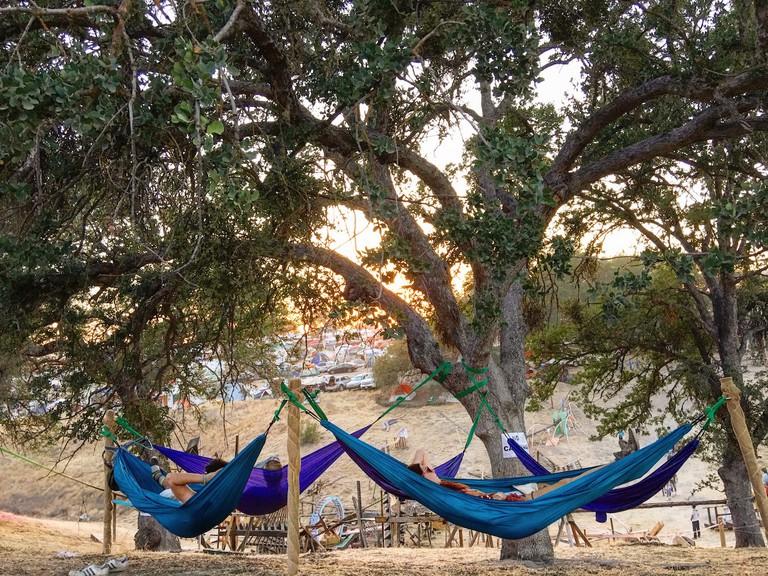 Resting in hammocks at LIB © Brenda Garcia Davidge