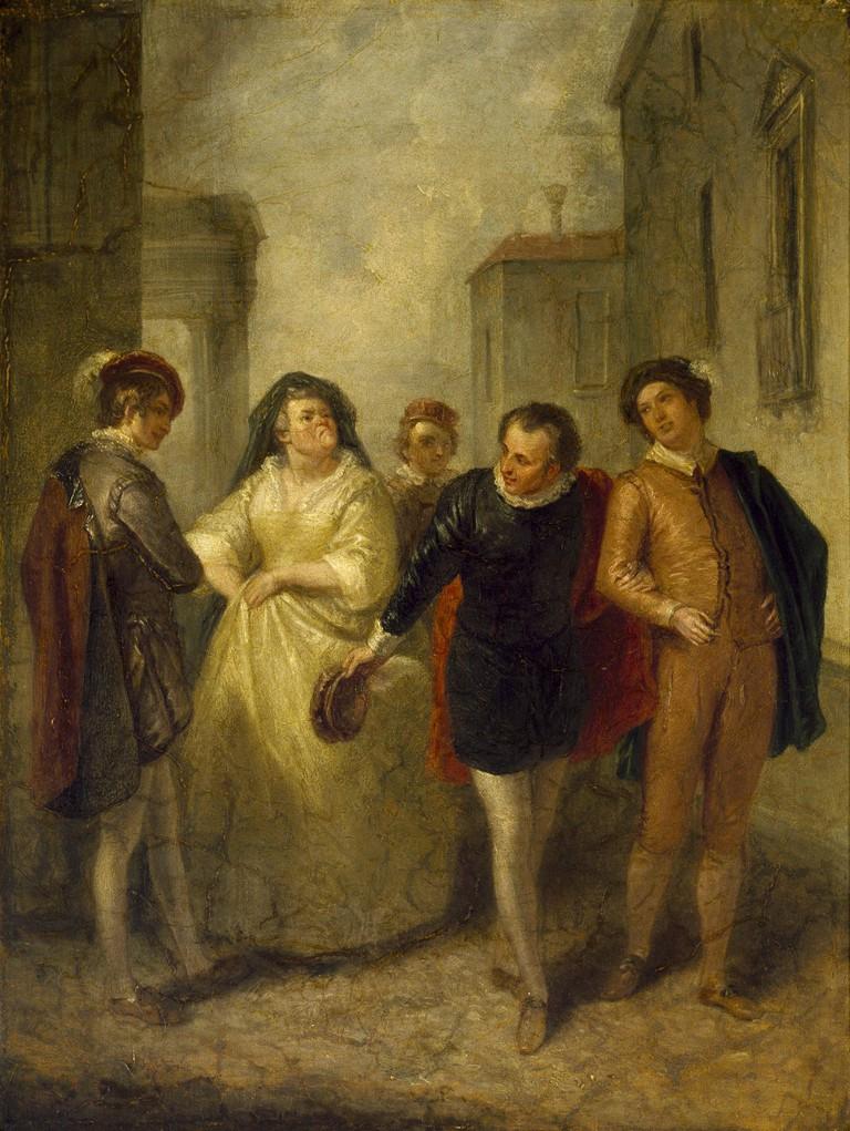 Mercutio bidding farewell to Juliet's nurse   © Thefairyouth154 / WikiCommons
