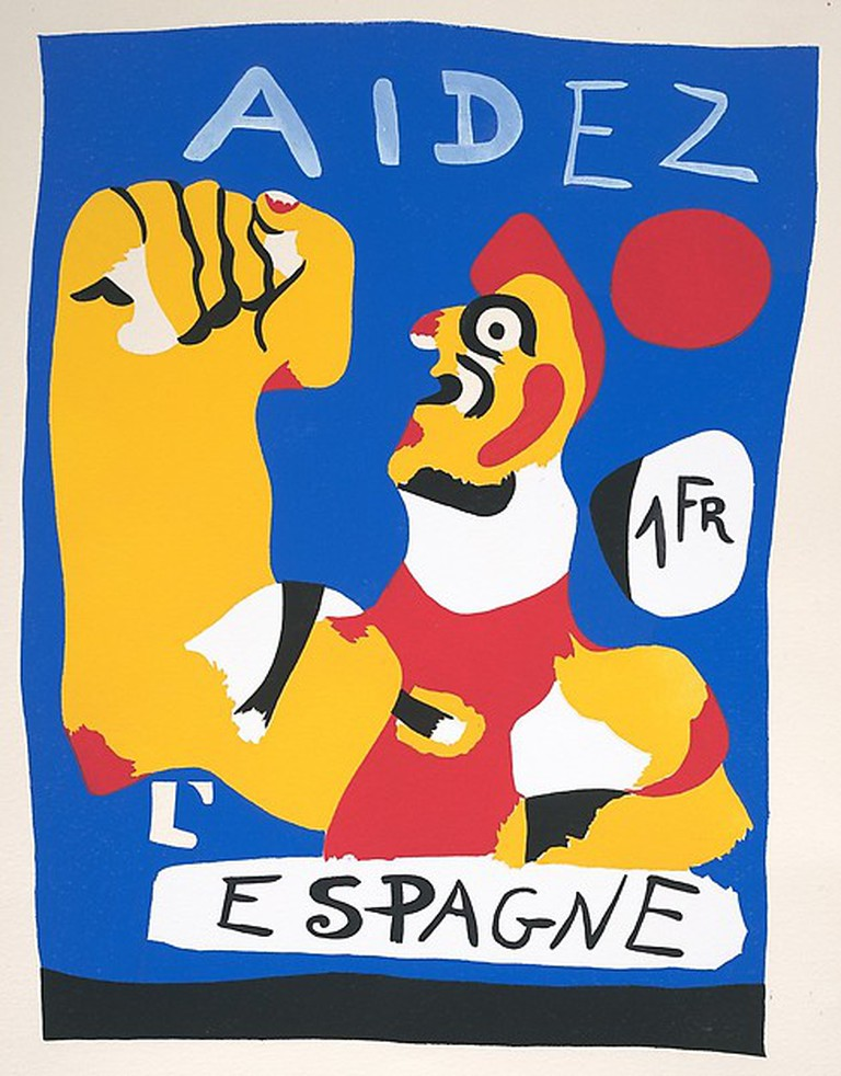 Joan Miró, Aidez l'Espagne, 1933. The Pierre and Maria-Gaetana Matisse Collection, 2002. © 2016 Artists Rights Society (ARS), New York