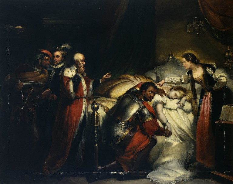 Painting by William Salter of Othello weeping over Desdemona's body / WikiCommons