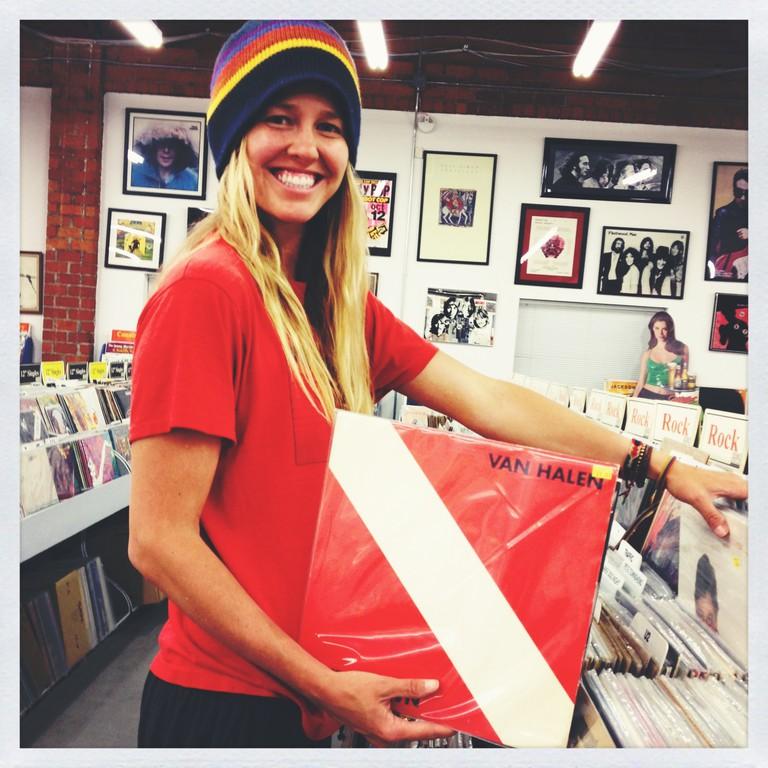 paige_recordshopping