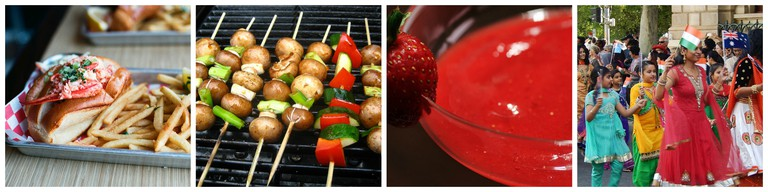 Lobster Roll | © Neil Conway/Flickr / Veggies | © Jeremy Keith/Flickr / homemade strawberry margaritas | © Stacy Spensley/Flickr / Girls and women from India | © Michael Coghlan/Flickr