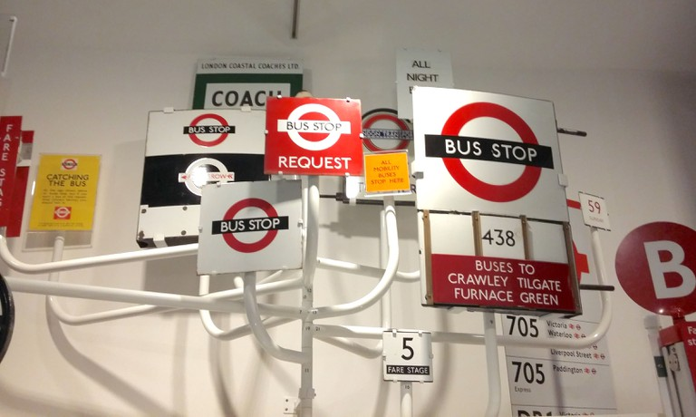 A collection of bus stop signs from over a century of bus services in London | © Christopher M Little