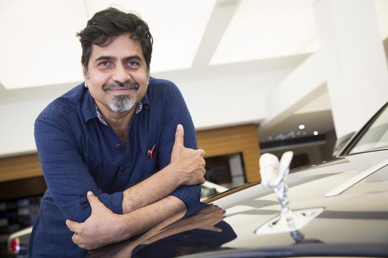 Artist Sudarshan Shetty at Rolls Royce