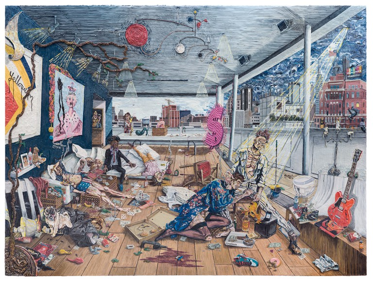 Henry Hudson, The Rise and Fall of Young Sen, Plate 6: The After Party, 2015, Courtesy of the Henry Hudson Studio