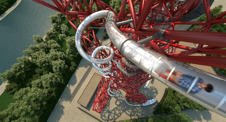 Original CGI of The Slide at ArcelorMittal Orbit   Courtesy of Queen Elizabeth Olympic Park