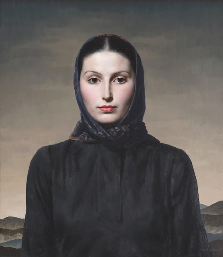 Gerald Brockhurst, Woman in Black, c. 1935 | Courtesy of Fine Art Society