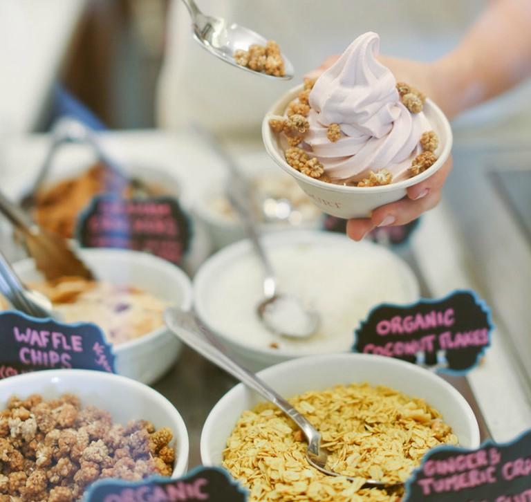 Vanilla Harmony with toppings (credit: Yoga-urt)