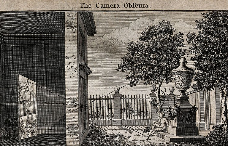 The camera obscura concept © Welcome Images/Wikipedia