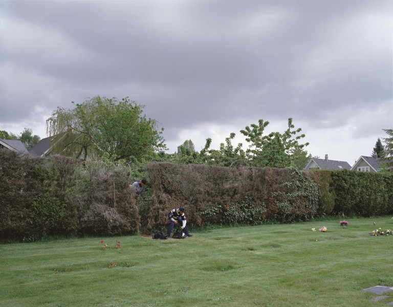 'Boys Cutting Through a Hedge' by Jeff Wall | © Jeff Wall / The SAMMLUNG VERBUND Collection, Vienna. Courtesy Jeff Wall Studio, Vancouver and Marian Goodman Gallery, New York/Paris