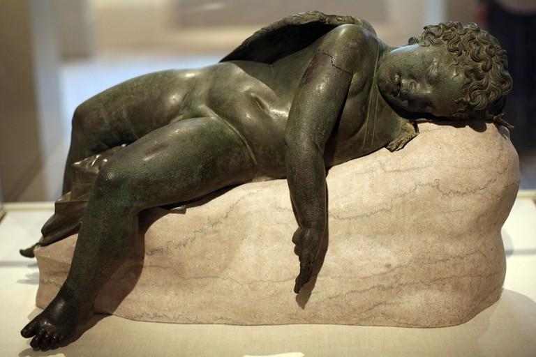 Bronze Statue of Eros Sleeping, 3rd-2nd century BC   © Katie Chao/Flickr