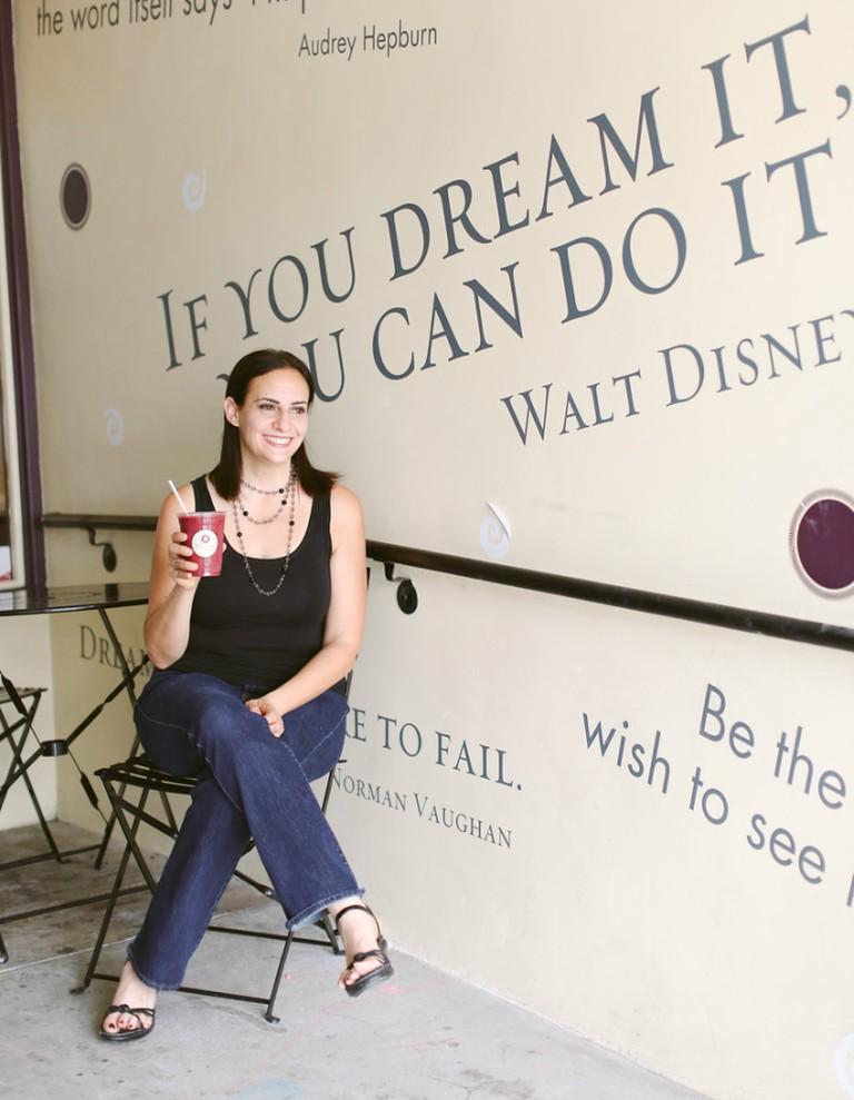 Melissa at Yoga-urt in Glendale (credit: Yoga-urt)
