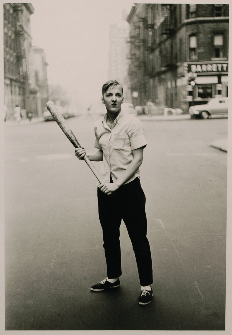 Diane Arbus, Teenager with a Baseball Bat, NYC, 1962 | © Andrew Russeth/Flickr